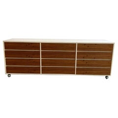 Zebra Wood Triple Dresser