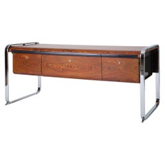 Zebrawood and Chrome Office Credenza by Peter Protzman for Herman Miller