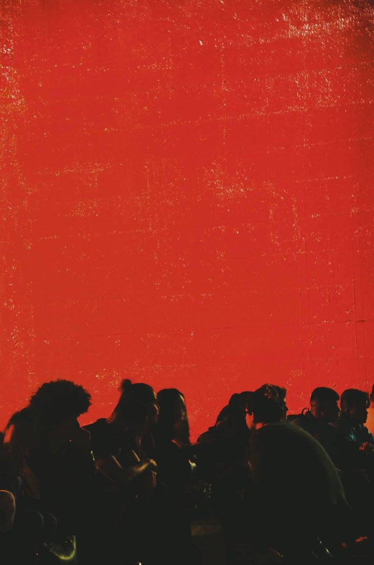 Zeca Osório Color Photograph - Red São Paulo