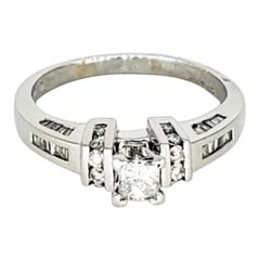 ZEI Antique 1.50 Carat Diamond Engagement Ring Platinum 900