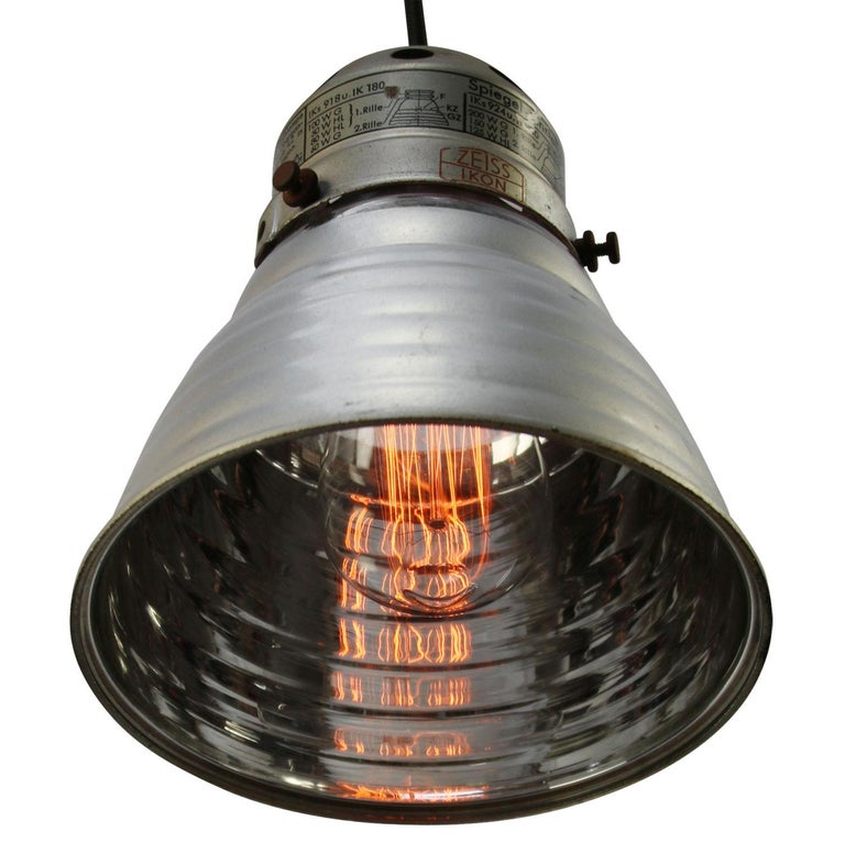 Zeiss Ikon mirror glass pendant Aluminium top 2 meter black wire  excluding light bulb  E27 / E26  Weight: 1.20 kg / 2.6 lb  Priced per individual item. All lamps have been made suitable by international standards for incandescent light