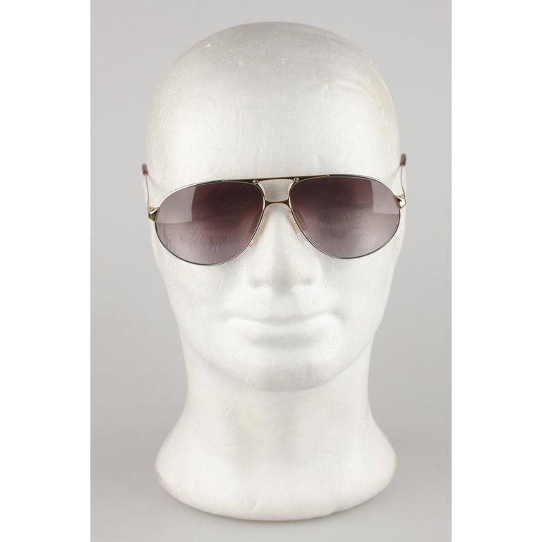 Zeiss Vintage Aviator Silver Sunglasses 5893 4000 62mm New Old Stock In New Condition In Rome, Rome