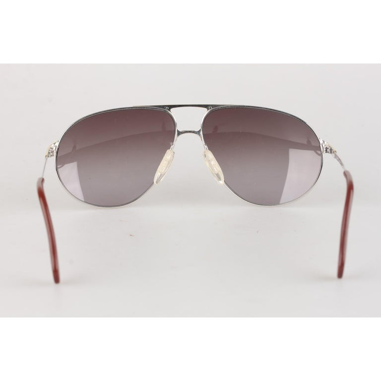 Women's or Men's Zeiss Vintage Aviator Silver Sunglasses 5893 4000 62mm New Old Stock