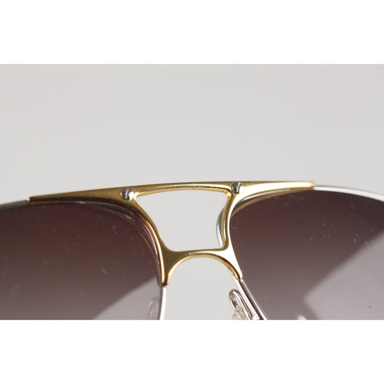Zeiss Vintage Aviator Silver Sunglasses 5893 4000 62mm New Old Stock 3