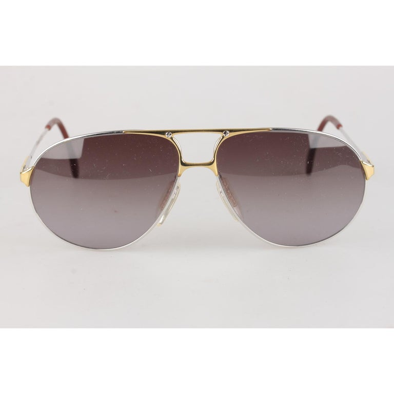 Zeiss Vintage Aviator Silver Sunglasses 5893 4000 62mm New Old Stock 5