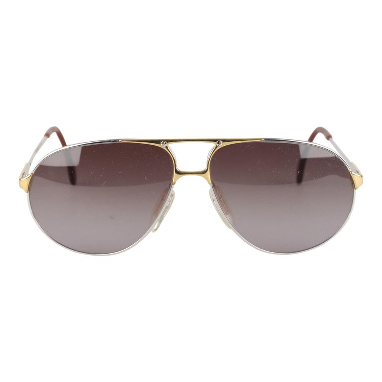 Zeiss Vintage Aviator Silver Sunglasses 5893 4000 62mm New Old Stock