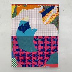 Zeke Williams, Hermione/Lachesis, unique digital fine art painting on canvas