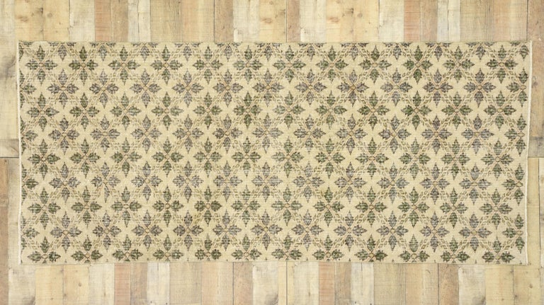 Zeki Muren Distressed Vintage Turkish Runner With Rustic Colonial Style For Sale 1