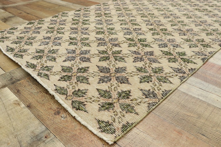 20th Century Zeki Muren Distressed Vintage Turkish Runner With Rustic Colonial Style For Sale