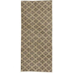 Zeki Muren Distressed Vintage Turkish Runner With Rustic Colonial Style