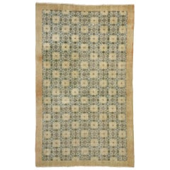 Zeki Muren Distressed Vintage Turkish Sivas Rug Swedish Cottage Gustavian Style