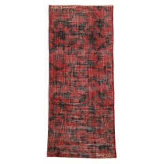 Zeki Muren Distressed Vintage Turkish Sivas Rug with Biophilia Prairie Style