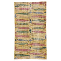 Zeki Muren Distressed Vintage Turkish Sivas Rug with Expressionist Style