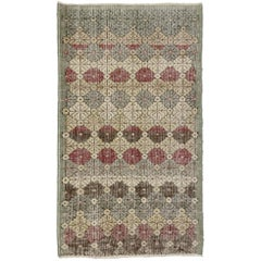 Zeki Muren Distressed Vintage Turkish Sivas Rug with Modern Rustic Artisan Style