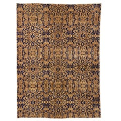 Zeki Muren Distressed Vintage Turkish Sivas Rug with Modern Art Deco Style