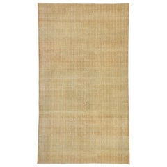 Zeki Muren Distressed Vintage Turkish Sivas Rug with Modern Rustic Style