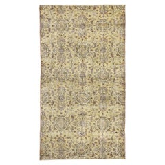 Zeki Muren Distressed Vintage Turkish Sivas Rug with Warm French Country Style
