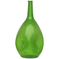 Zeller Glass Company Luminous Green Blown Glass Vessel