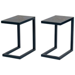 """Zelouf + Bell, """"Monarch"""" Pair of End Tables, Ireland, 2015"""