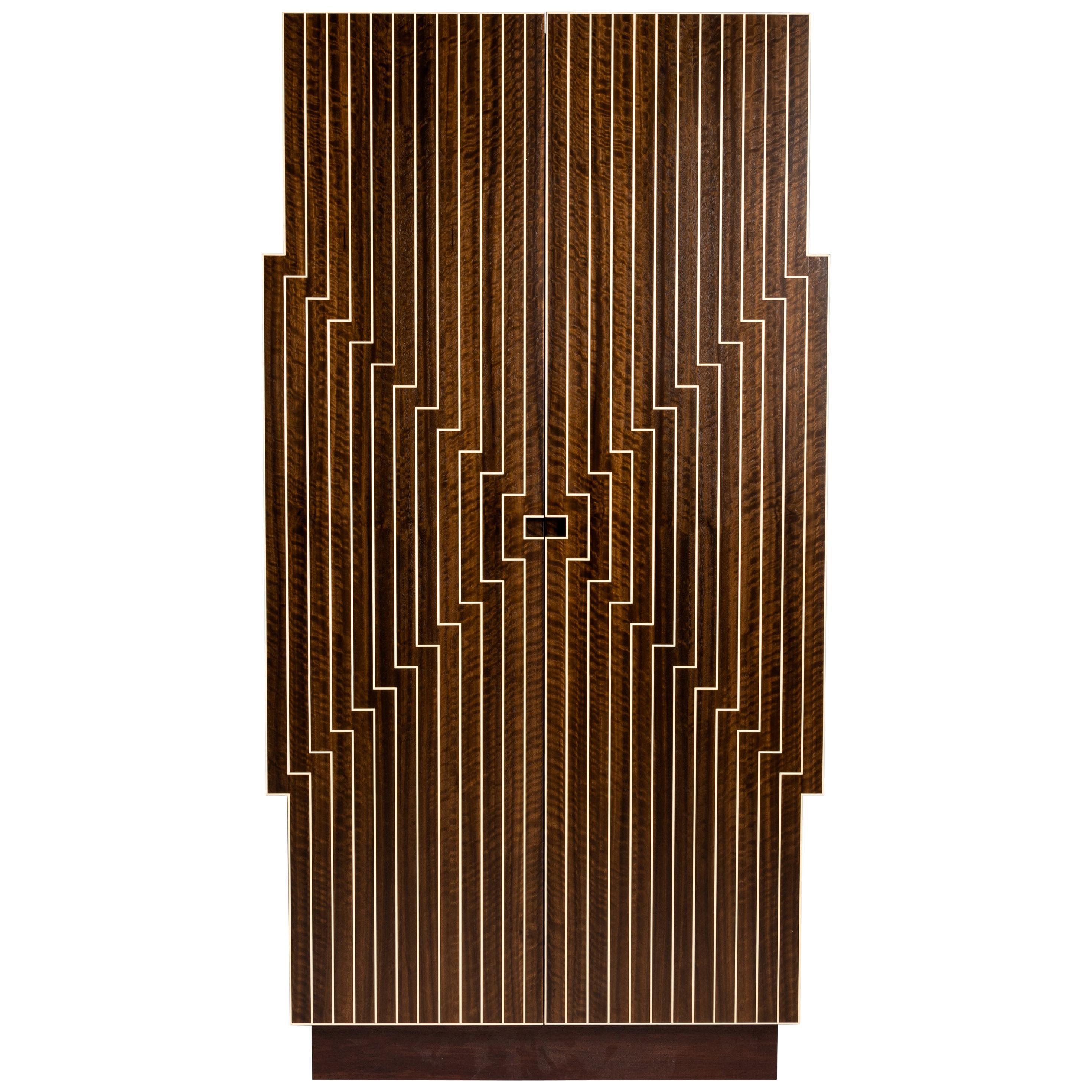 """Zelouf & Bell, """"Stella'd,"""" Contemporary Vertical Bar Cabinet, Ireland, 2018"""