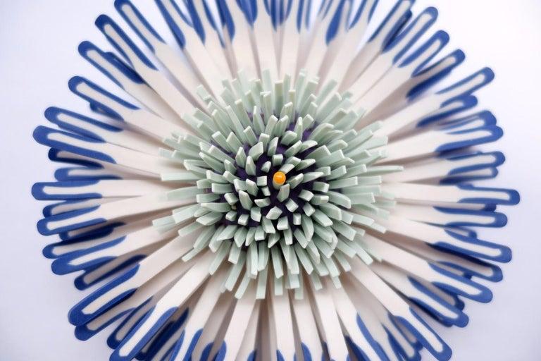 Shard Flower 2 - Sculpture by Zemer Peled