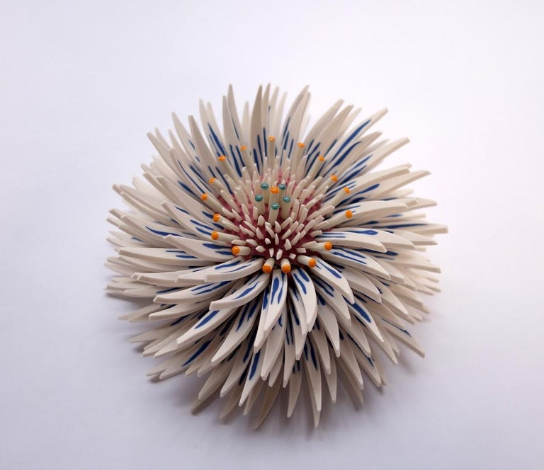 Shard Flowers 1 - Gray Abstract Sculpture by Zemer Peled
