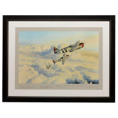 """""""Zemke's Wolfpack"""" by Robert Taylor Vintage Print, Autographed by the Pilots"""