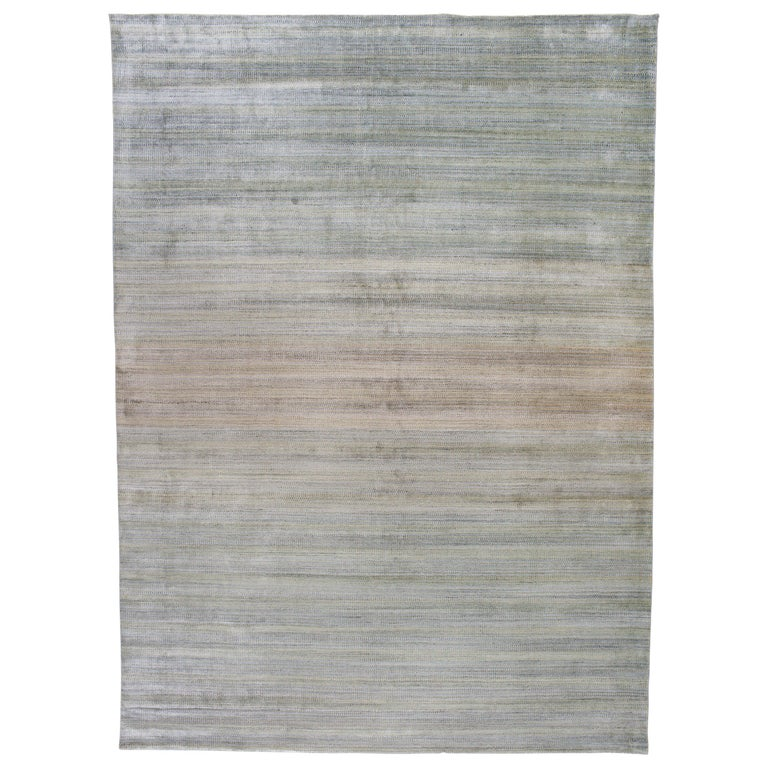Zen Collection Rug In Green For Sale At 1stdibs