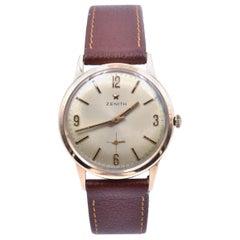 Zenith 18 Karat Rose Gold Vintage Watch Calibre 2541