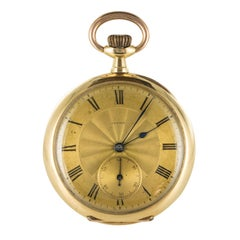 Zenith 1900s Yellow and Rose Gold Pocket Watch