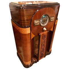 Zenith 1940 Aztec 12S471 Tube Robot Dial Console Tube Radio, Restored Bluetooth