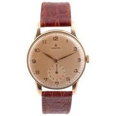 Zenith, An 18 Karat Gold Manual Wind Wristwatch