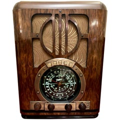 Zenith Antique '1937' 6-S-330 Tombstone Black Dial Tube Radio and Bluetooth