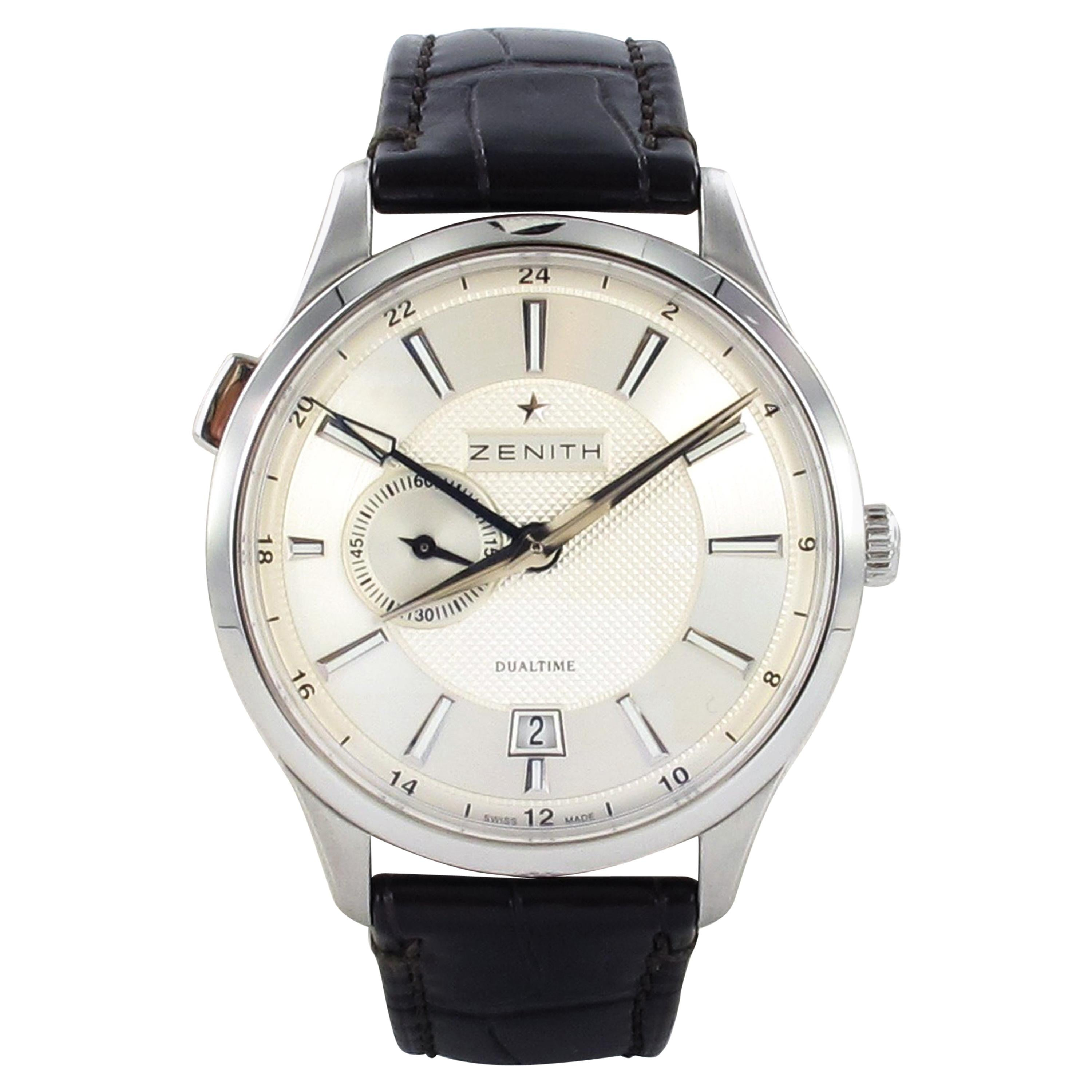 Zenith Captain Dual Time in Stainless Steel