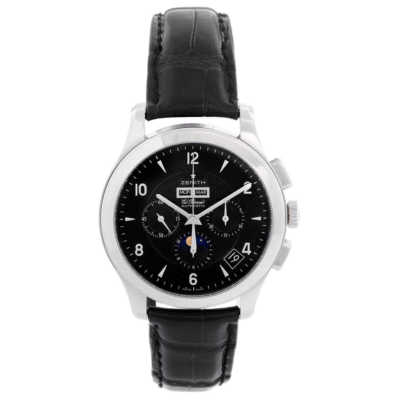 Zenith Class T Moonphase Men's Stainless Steel Watch 03.0510.4100