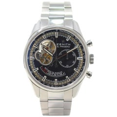 Zenith El Primero 03.2080.4021 with Stainless Steel Bezel and Black Dial