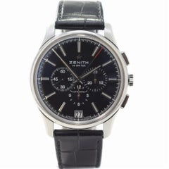 Zenith El Primero 03.2110.400/22.C493 with Stainless Steel Bezel and Black Dial