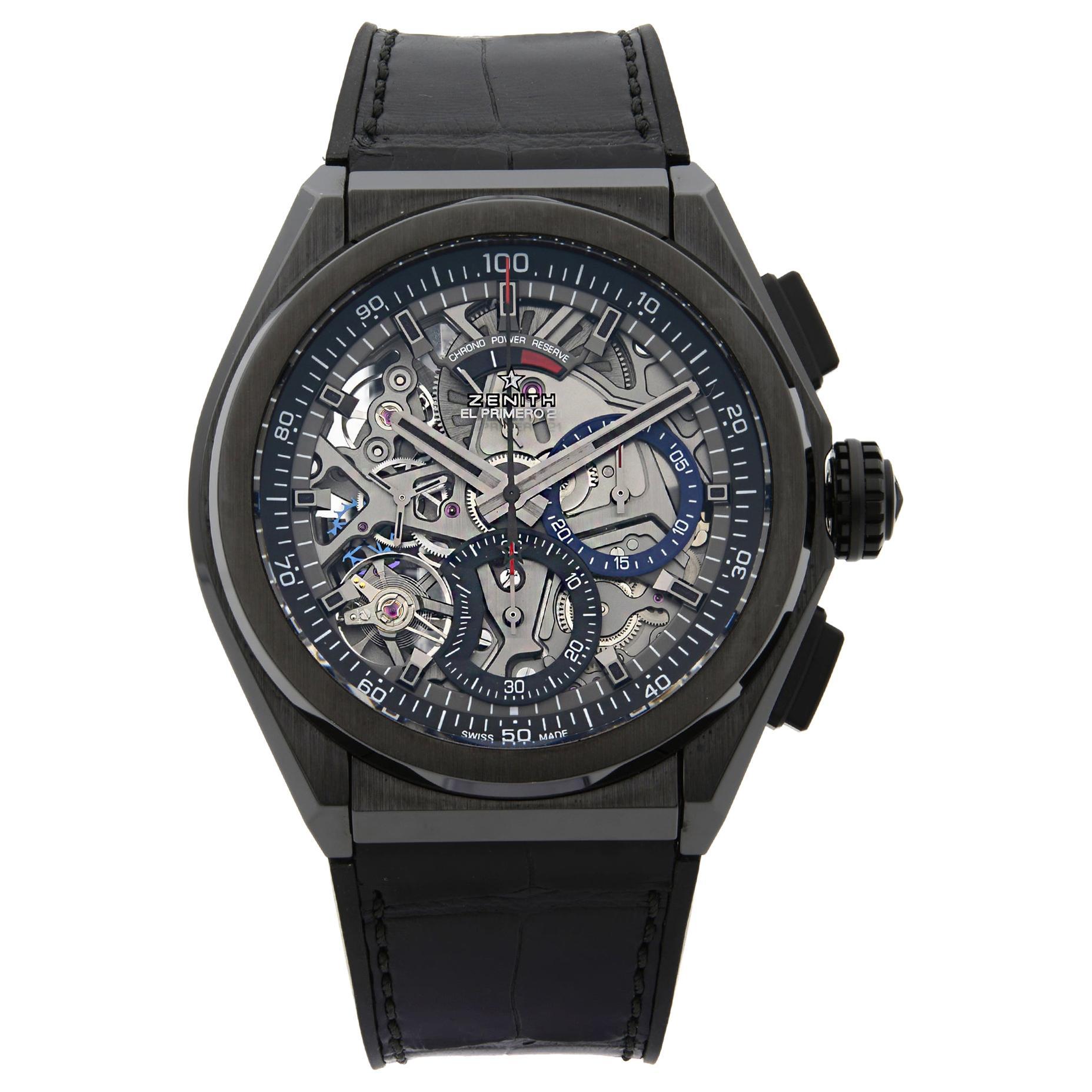 Zenith El Primero 21 Defy Black Ceramic Men's Watch 49.9000.9004/78.R582