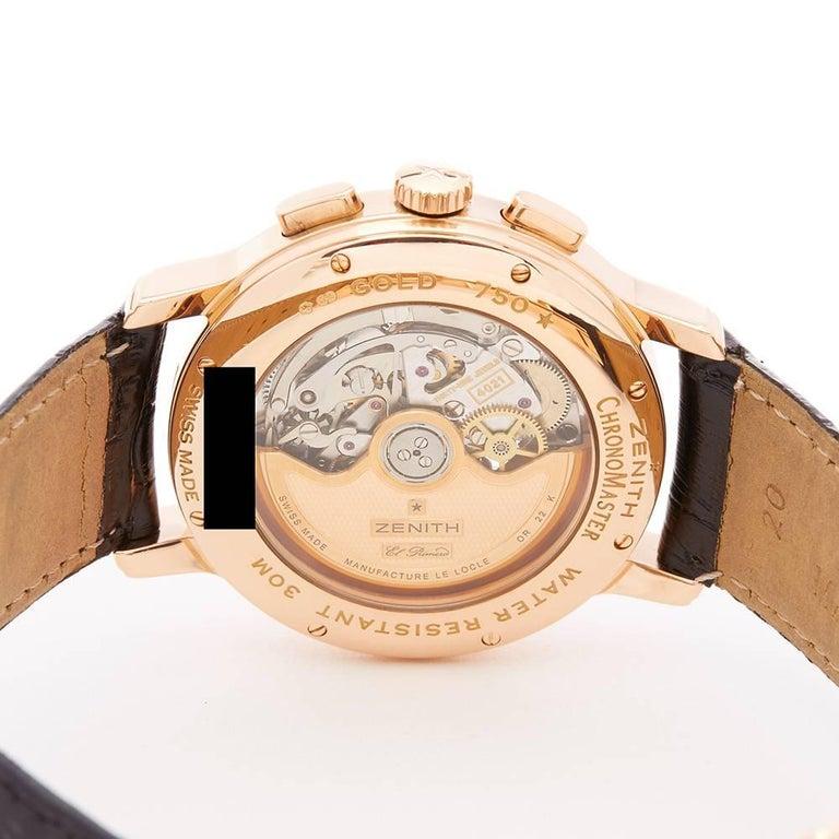 Zenith El Primero Chronomaster Chronograph 18 Karat Rose Gold Men's 3