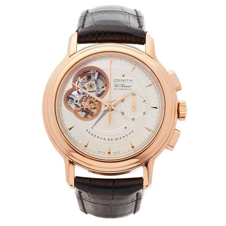 Zenith El Primero Chronomaster Chronograph 18 Karat Rose Gold Men's