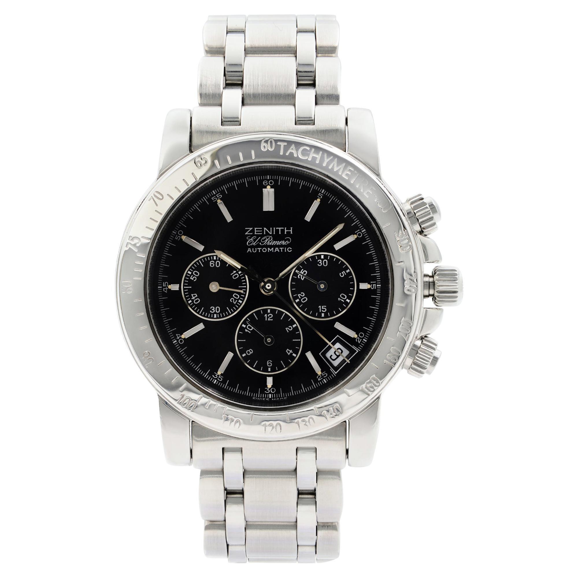 Zenith El Primero Rainbow Steel Black Dial Automatic Men's Watch 02.0360.400