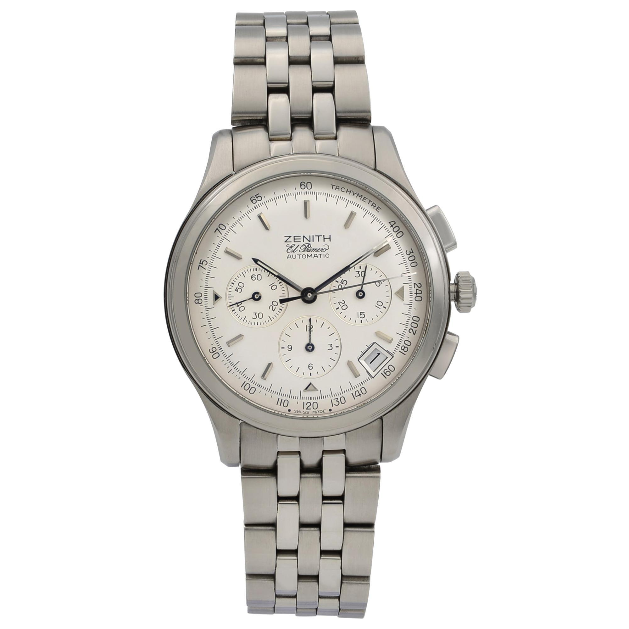 Zenith El Primero Steel Silver Dial Automatic Men's Watch 02.0501.400/01.M501