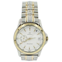 Zenith Elite Ref 53 0030 682 18 Karat Yellow Gold and Stainless Steel Box Papers