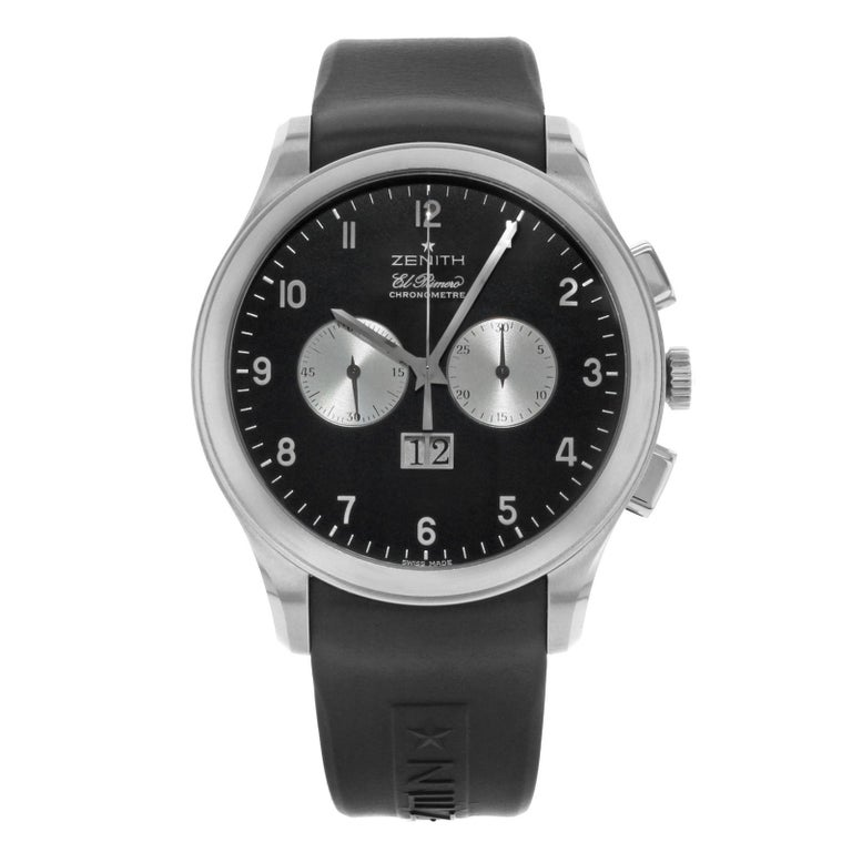 Zenith Grande Class 03.0520.4010 21.R511 Steel and Rubber Automatic Men s  Watch 3bc8a5f2ef