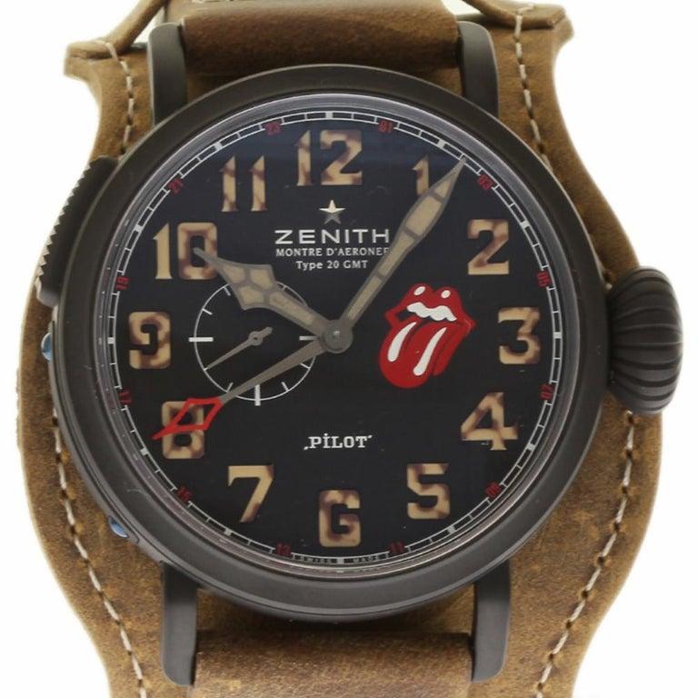 Zenith New 96.2435.693/97.C738 Titan Pilot Montre D'Aeronef Rolling Stones #ZN1 For Sale