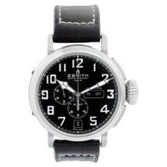 Zenith Pilot Stainless Steel Men's Chronograph Watch 03.2430.4054