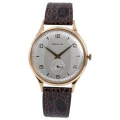 Zenith Sporto 467189 Men's Vintage Hand Winding Watch 18 Karat Rose Gold