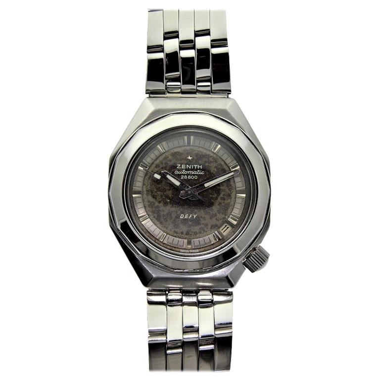 Zenith Stainless Steel Moderne Sport Automatic Wristwatch, circa 1970s
