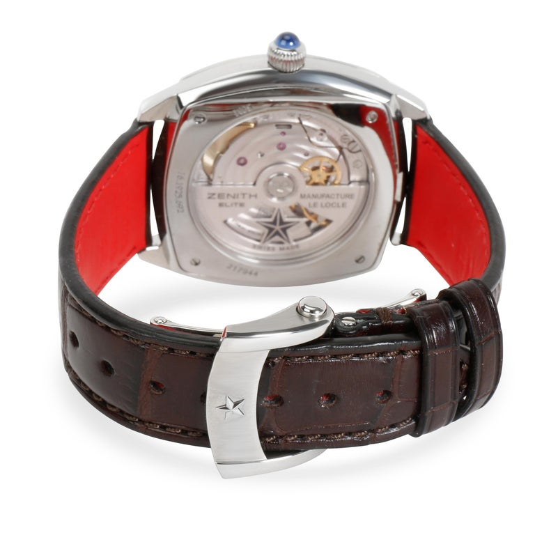 Zenith Star Moonphase 16.1925.692 Unisex Watch in Stainless Steel  SKU: 100527  PRIMARY DETAILS Brand:  Zenith Model: Star Moonphase Country of Origin: Switzerland Movement Type: Mechanical: Automatic/Kinetic Year of Manufacture: