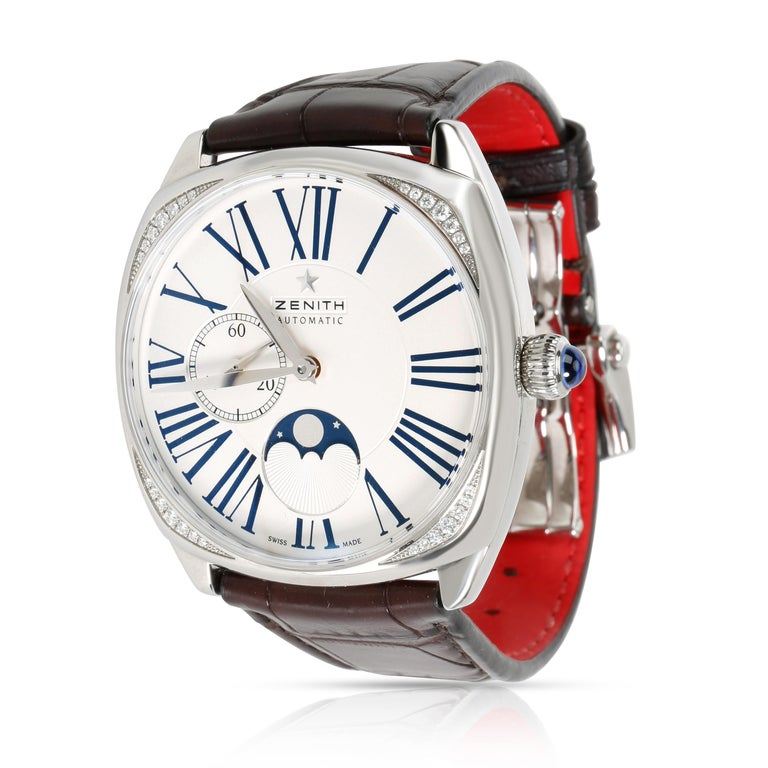 Women's or Men's Zenith Star Moonphase 16.1925.692 Unisex Watch in Stainless Steel For Sale